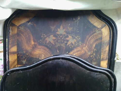 letto  antico in ferro  decorato